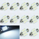 10X 31mm 12 LED SMD Festoon Dome Light lamp Car Bulbs White 3021 3022 DE3175 DB
