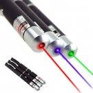 5mw 3PCS Laser pointer Pen Red + Green + Blue/violet Laser Pointer Visible Beam db