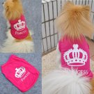 Size XS Dog Cat Princess T-shirt Clothes Costumes Outfit Vest Summer Coat