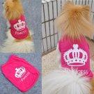 Size S Dog Cat Princess T-shirt Clothes Costumes Outfit Vest Summer Coat DB