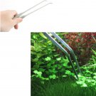 Aquarium Live Plant Tank Curve Stainless Steel Scissors Tweezers 27CM db