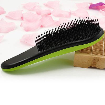 1 x Purple Magic Handle Tangle Detangling Comb Shower Hair Brush Salon Styling Tamer db