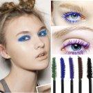 Blue Mascara Waterproof Eye Make Up Eyelash Brush Head 3D FIBER One Pcs