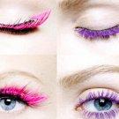 Purple Mascara Waterproof Eye Make Up Eyelash Brush Head 3D FIBER One Pcs