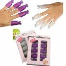 10Pc Acrylic Nail Art Smart Soak Off Clip Cap UV Gel Polish Remover Wrap Pink Color