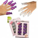 One Pack Acrylic Nail Art Smart Soak Off Clip Cap UV Gel Polish Remover Wrap Purple Color