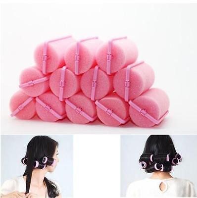 12Pcs Magic Sponge Foam Cushion Hair Styling Rollers Curlers Twist Tool  db