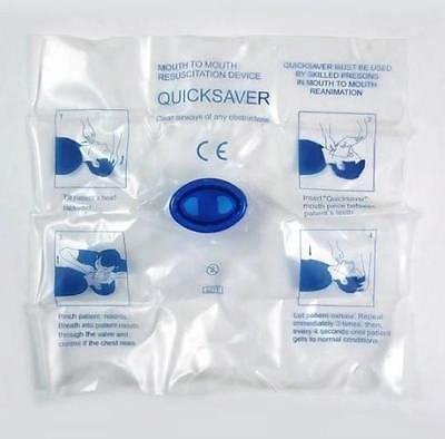 5 x First Aid CPR Resuscitator Mouth Mask Hygiene Emergency Rescue Face Shield db