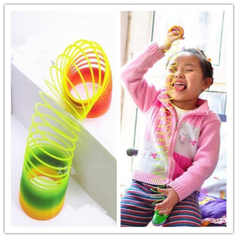 Plastic Toy Magic Slinky Glow-in-the-dark Children Classic Toy db