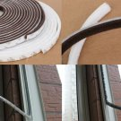 5m Self Adhesive Draught Excluder Brush Window Pile Seal Film Door Weather Strip White Color