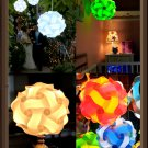 30pcs Elements Modern IQ Puzzle Jigsaw Light Lamp Shade Ceiling Lampshade Size S Sky Blue Color