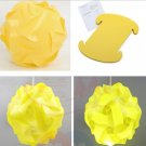 30pcs/Lamp Shade Elements IQ Puzzle Jigsaw Light Lamp Shade Ceiling Lampshade Size S Yellow Color