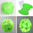 30pcs/Lamp Shade Elements IQ Puzzle Jigsaw Light Lamp Shade Ceiling Lampshade Size S Green Color