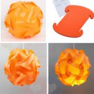 30pcs/Lamp Shade Elements IQ Puzzle Jigsaw Light Lamp Shade Ceiling Lampshade Size S Orange Color