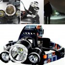 Out Doors 6000Lm CREE XM-L XML 3x T6 LED Big Headlight Headlamp Bike Light Flashlight Lamp db