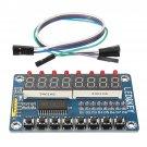TM1638 Chip Key Display Module 8 Bits Digital LED Tube For AVR Arduino 5V 1 Pcs