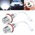 2x 3.5W White Cree LED Angel Eye Halo Ring Marker Light For BMW E39 E53 E60 E61 db