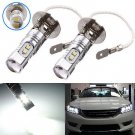 2x H3 Xenon White 10W 2323 SMD LED Bulb Fog Driving Light 6000K for Car Lihgt db