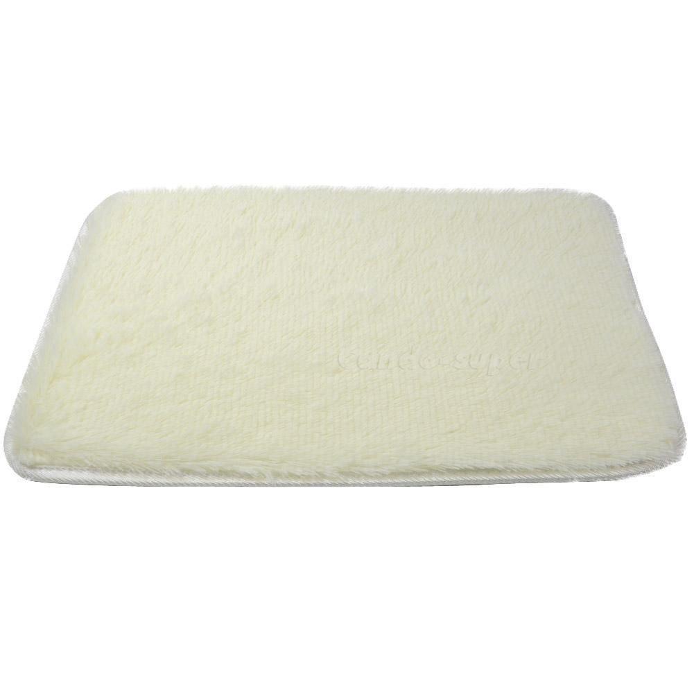 40*60cm Anti-skid Carpet Living Dining Bedroom Bathroom Shaggy Wool Rug DB
