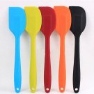 Cake Cream Butter Spatula Mixing Batter Scraper Brush Silicone Baking Tool One Pcs Random Color