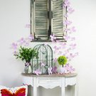 3D Flower Sticker Art Design Decal Wall Stickers Home Decor Pink Color
