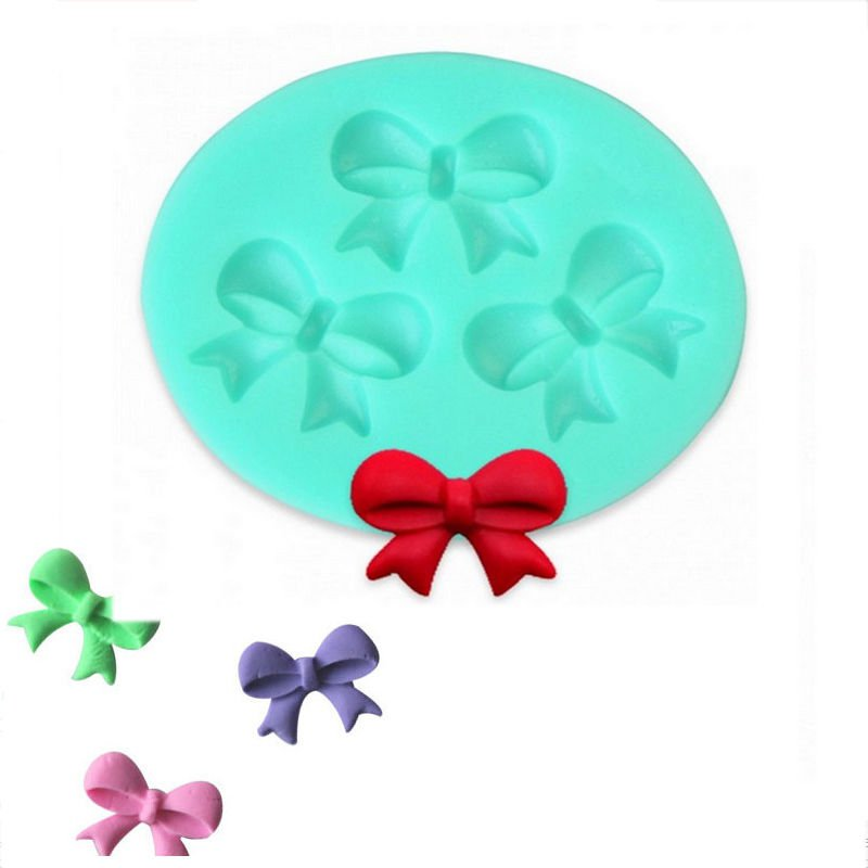 1pcs Silicone 3 Bow Knot Mold Cake Fondant Decorating Tools Baking Cookie Mould db