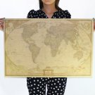 Large Vintage Style Retro Paper Poster Gifts Globe Old World Map 28 x 18 Inch db