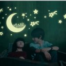 Glow in the dark wall sticker DIY kid's room decoration home decals luminous City Moon Star