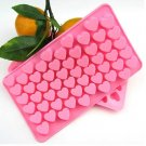 Heart Cube Rectangle Chocolate/Ice Silicone Cake Soap Baking Mold db