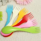 Spoon Fork Knife Cutlery Hiking Spork Combo Travel Utensils Tool 1 Pcs