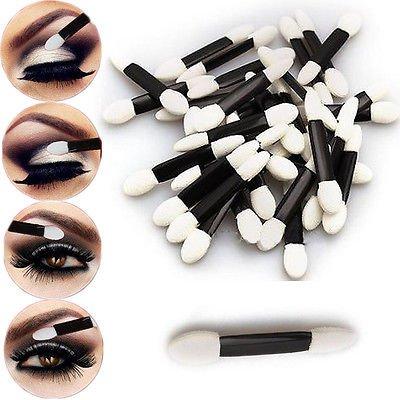 50pcs Make Up Eye Shadow Sponge Lip Brushes Applicators Cosmetics Makeup Tool db