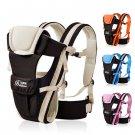 Baby Carrier Breathable Ergonomic Newborn Kids Pouch Front Back Infant Backpack  Khaki Color