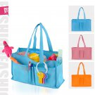 Portable Baby Diaper Nappy Changing Bottle Storage Insert Organizer Bag Handbag Orange x 1