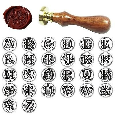 Classic Alphabet Initial Sealing Wax Seal Stamp Invitations Gift -One Pcs Letter U