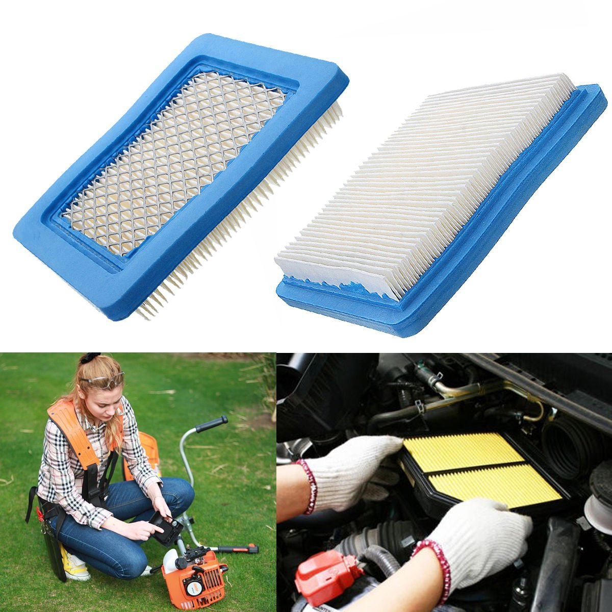 1PC Air Filters for Briggs & Stratton 491588 491588s 5043 5043D 399959 119-1909 DBDB