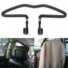 Black Rubber-coated Car Seat Headrest Jacket Coat Suit Clothes Hanger Holder DB