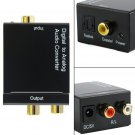 Digital Optical Toslink Coax to Analog L/R RCA Audio Converter Adapter +Cable DB
