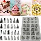 24 Pcs Icing Piping Nozzles Pastry Tips Cake Sugarcraft Decorating Tool Set db