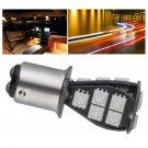 2 Pcs 1157 BAY15D P21/5W 18SMD CANBUS Error Free Brake Tail Car LED Light Bulb Yellow db