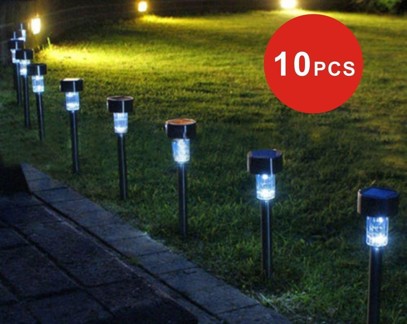 10X Solar LED Garden Lamp Spot Light Party Path Outdoor Spotlight Lawn Landscape db