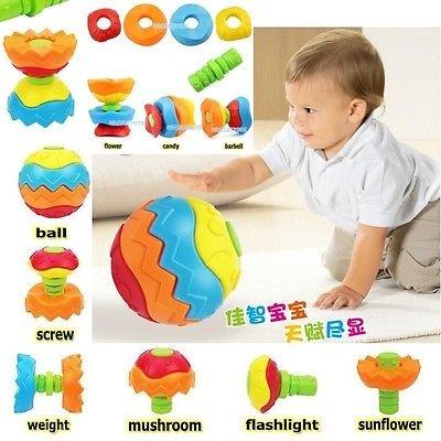 Baby Toddler Kid Child Toy Puzzle Transformer Ball 3D Blocks Developmental Toys db
