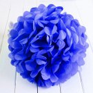 2 Pcs Blue 10'' Wedding Party Home Birthday Tissue Paper Pom Poms Flower Balls Décor db