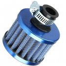 12mm Blue Car Motor Cold Air Intake Filter Turbo Vent Crankcase Breather  DB