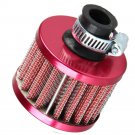 12mm Red Car Motor Cold Air Intake Filter Turbo Vent Crankcase Breather  DB