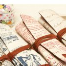 Coffee Pencil Case Rolls Exquisite Cute Makeup Pen Bag 1 Pcs db