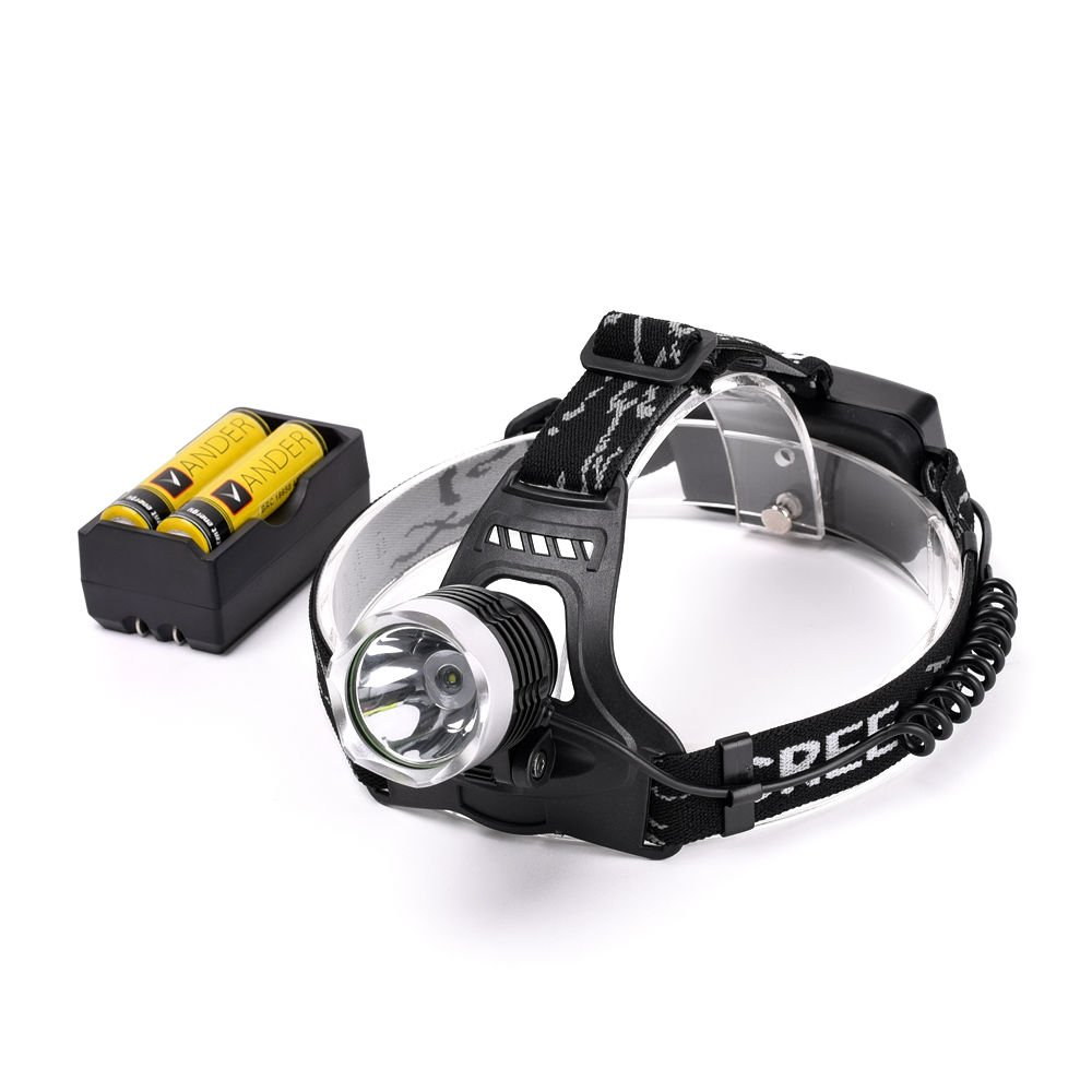 1800Lm CREE XM-L XML T6 LED Headlamp Headlight Torch 2X18650 battery+Charger db