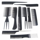 10 piece Hair Styling Comb Set Professional Black Hairdressing Brush Barbers db