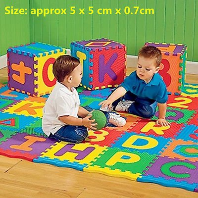 Colorful Puzzle Kid Educational Toy A-Z Alphabet Letters Numeral Foam Mat db