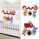 Animal Handbells Developmental Toy Bed Bells Kids Baby Soft Toys Rattle db