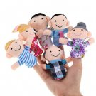 6PCS Baby Kids Plush Cloth Play Game Learn Story Family Finger Puppets Toys db